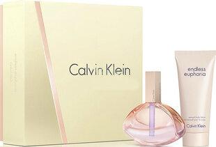 Komplekts Calvin Klein Endless Euphoria: edp 75 ml + ķermeņa losjons 100 ml