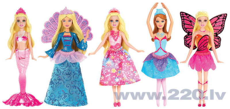 Lelle Barbie mini princese, V7050, 1 gab.