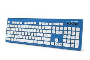 Esperanza EK130B Vadu, ūdensizturīga USB tastatūra, Zila
