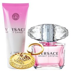 Komplekts Versace Bright Crystal: edt 90 ml + ķermeņa losjons 100 ml + atslēgu piekariņš cena un informācija | Krēmi un losjoni | 220.lv