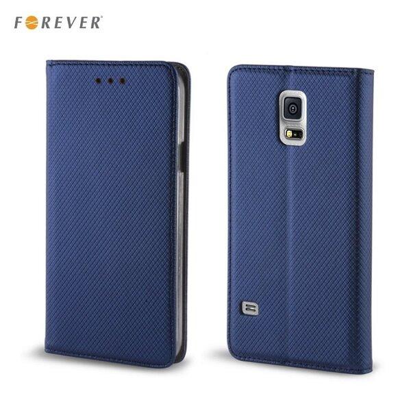 Forever чехол-книжка с магнитной фиксацией, без клипсы Samsung J320F Galaxy J3, темно синий