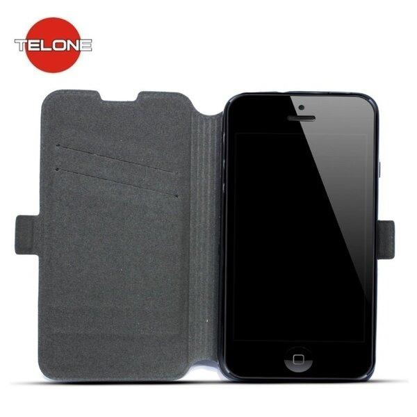 Telone Супер тонкий Чехол-книжка со стендом Sony Xperia XA Черный