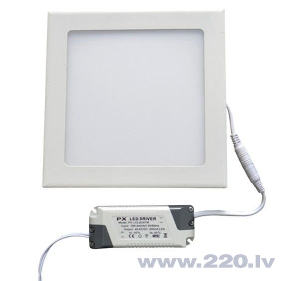 LED panelis LEDlife, 12W (silta balta)