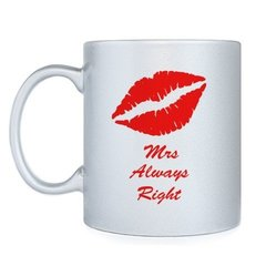 "Кружка ""Mrs always right"""