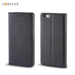 Forever Magnēstikas Fiksācijas Sāniski atverams maks bez klipša Huawei Honor 7 Lite / Honor 5C Melns