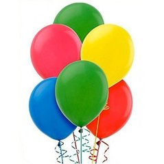 krāsaini baloni, 20 gab.