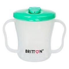 Первая детская бутылочка BRITTON, 200 мл, зеленая