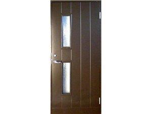 Tērauda durvis ar rāmi BASIC B028W95 ar stiklu 80D