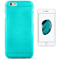 Forcell Jelly Brush Perlamutra telefona silikona apvalks Apple iPhone 7 (4.7inch) Zils