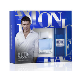 Komplekts Antonio Banderas Blue Seduction: edt 100 ml + dezodorants 150 ml