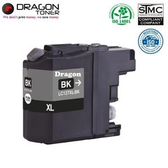 Dragon Brother LC127XL Melns Tintes Kārtridžs 17ml priekš DCP-J4110DW, MFC-J4610DW u.c.HQ Premium Analogs