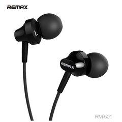 Austiņas Remax RM-501 Base-D Comfort ar mikrofonu, 1.3 m, melns
