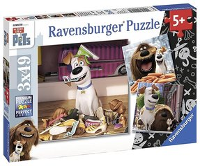 Пазл Ravensburger Secret Life of Pets, 3x49 детали, 094134