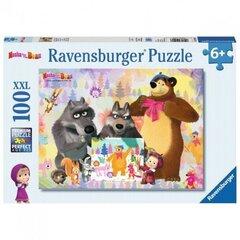 Мозайка Ravensburger Маша и Медведь 100 деталей, 10590  цена и информация | Пазлы, 3D пазлы | 220.lv