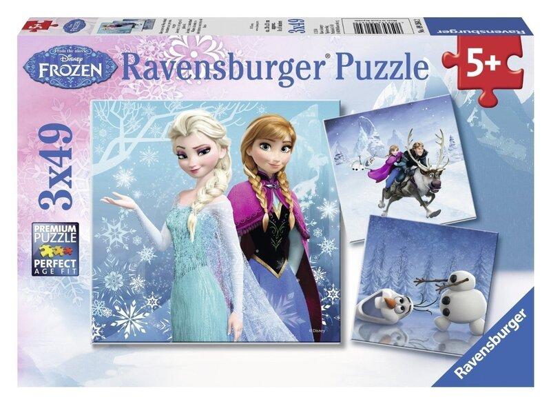 Набор пазлов Ravensburger Холодное сердце (Frozen) Зимние приключения 3x49 деталей 092642