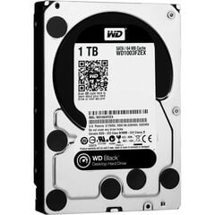 Western Digital Black 1TB 7200RPM SATA3 64MB WD1003FZEX цена и информация | Datoru komponentes | 220.lv