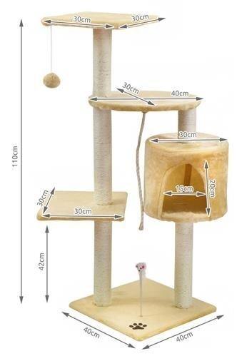 Māja kaķiem ar asinātāju Post House Kitty 110 cm