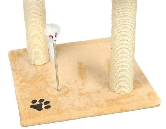 Māja kaķiem ar asinātāju Post House Kitty 110 cm atsauksme