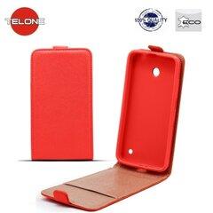 Vertikāli atverams telefona maciņš Telone Shine Pocket Slim Flip Case priekš Huawei P9 Sarkans