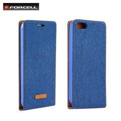 Vertikāli atverams telefona maciņš Forcell Canvas Flexi priekš Apple iPhone 7 (4.7inch) Zils