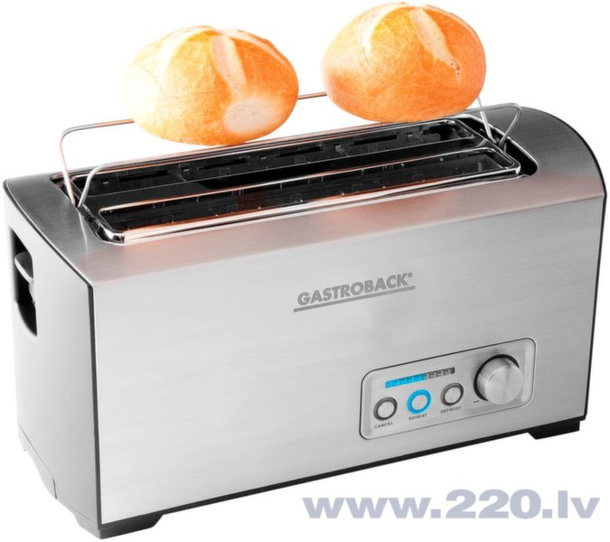 Gastroback Toaster PRO 4S 42398 Stainless Steel/ black, Stainless steel, 1500 W, Number of slots 4, Number of power levels 9, Bun warmer included   цена