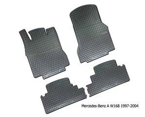 Gumijas paklājiņi Mercedes-Benz A-Class W168 1997-2004 cena un informācija | Gumijas paklājiņi pēc auto modeļiem | 220.lv