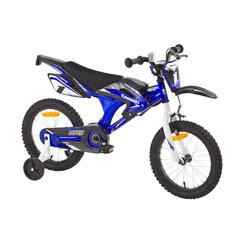 "Zēnu velosipēds Kawasaki Moto 16"" cena un informācija | Velosipēdi | 220.lv"