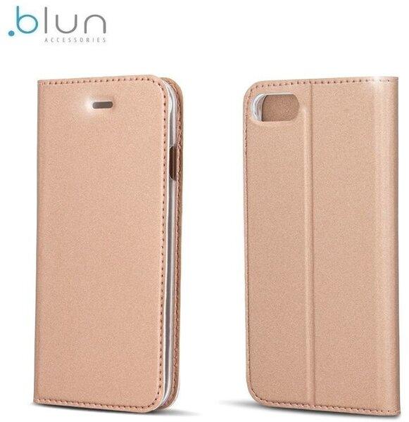 Чехол-книжка Blun Premium Matt для Huawei Honor 5C / Honor 7 Lite Золотисто-розовый