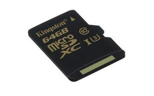Kingston 64GB microSDXC Class U3 UHS-I 90R/45W + Adapter
