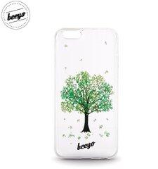 Aizmugurējais apvalks Beeyo Blossom priekš Samsung Galaxy J5 (J500F) Balts/Zaļš cena un informācija | Maciņi, somiņas | 220.lv