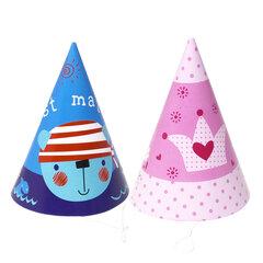 Cepurītes, 6 gab. cena un informācija | Svētku dekorācijas un vienreizlietojamie trauki | 220.lv