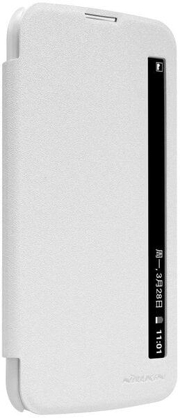 Sāniski atverams maciņs Nillkin Sparkle priekš LG K10, Balts