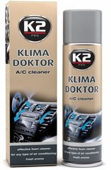 Automobiļu gaisa kondicionēšanas tīrīšanas līdzeklis K2 Klima Doctor, 500 ml cena un informācija | Auto ķīmija | 220.lv