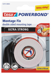 Divpusēja līmlente Tesa Ultra Strong 1,5mx19mm
