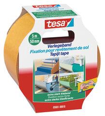 Divpusīga lipīga lente grīdai tesa Extra Strong 5mx50mm   cena un informācija | Divpusīga lipīga lente grīdai tesa Extra Strong 5mx50mm   | 220.lv