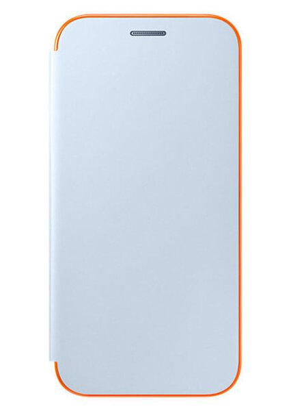 Sāniski atverams maciņš Samsung Flip cover priekš Samsung Galaxy A520, Gaiši zils