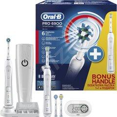 Zobu birste Braun Oral-B PRO 6900 WHITE cena un informācija | Elektriskās zobu birstes | 220.lv