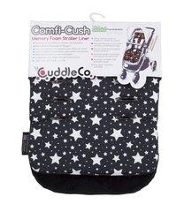 Ratiņu ieliktnis CuddleCo Comfi Black&White Stars, CC842803 cena un informācija | Aksesuāri bērnu ratiem | 220.lv