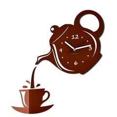 Sienas pulkstenis Kafija cena un informācija | Pulksteņi | 220.lv