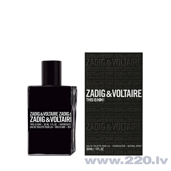 Tualetes ūdens Zadig & Voltaire This is Him! EDT 30 ml cena