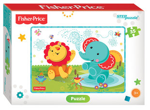 "Puzzle ""Fisher Price"", Step puzzle, 35 daļas"