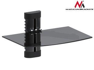 Maclean MC-663 1-Tier Wall Floating Glass Shelf Support DVD Console PS3 Xbox   cena un informācija | Televizoru stiprinājumi (kronšteini) | 220.lv