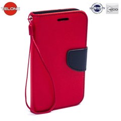 Telone Fancy Diary Bookstand Case ar stendu priekš LG K7 X210, sarkans/zils