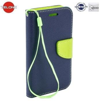 Telone Fancy Diary Bookstand Case ar stendu priekš Samsung G950 Galaxy S8, zils/gaiši zaļš cena un informācija | Maciņi, somiņas | 220.lv