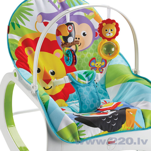 Šūpuļkrēsliņš Fisher Price Infant to Toddler Rocker, zils