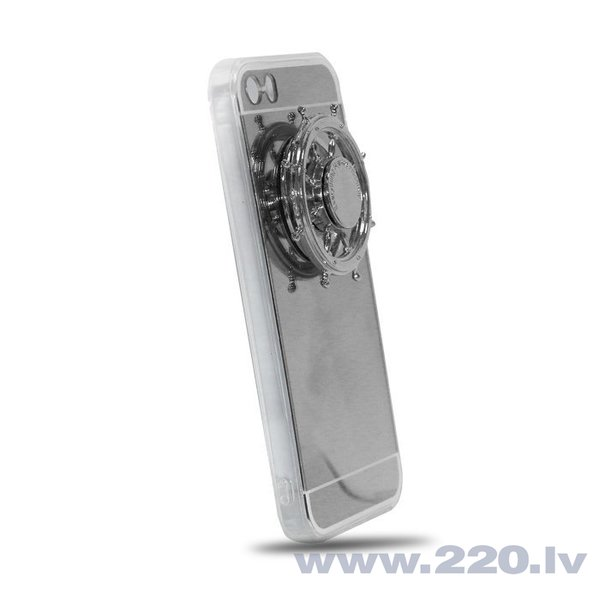 Mocco Spinner Mirror maciņš + Spinner priekš Samsung A320 Galaxy A3 (2017), Sudrabains