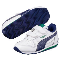 Puma sporta apavi zēniem Fieldsprint L V PS, White-Blue Depth
