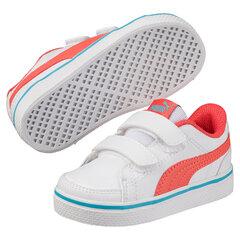 Puma спортивная обувь для мальчиков Court Point Vulc v2, White-Hot Coral