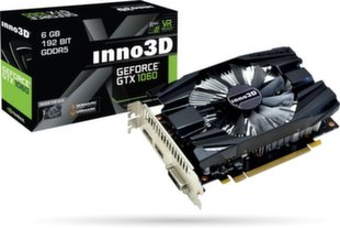 Inno3D GeForce GTX 1060 6GB Compact 2, HDMI 2.0b, Display Port 1.4, DVI-D