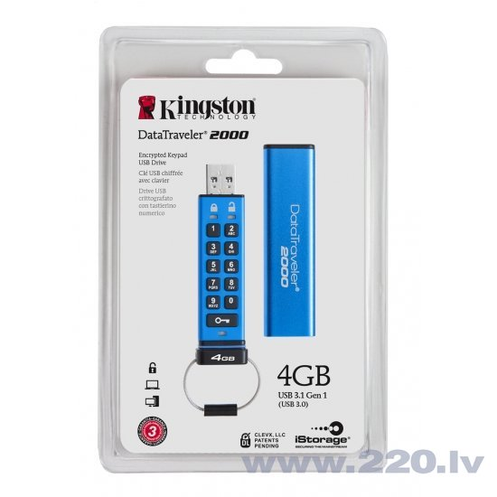 Zibatmiņa Kingston DT2000/4GB cena